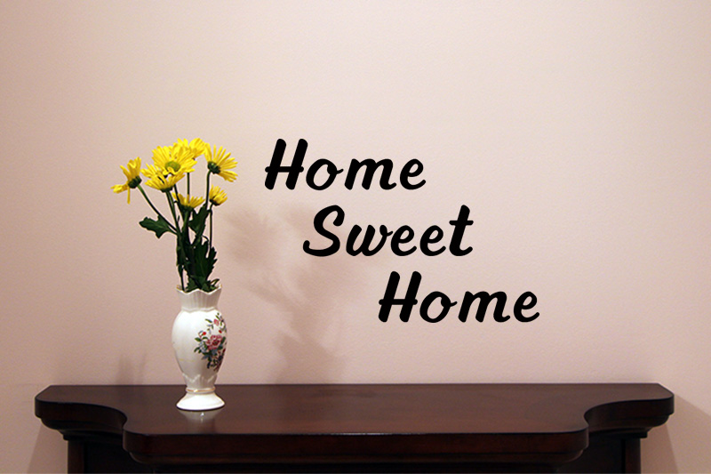 Home Sweet Home Vinyl Wall Quote - Easy Install | VL08001