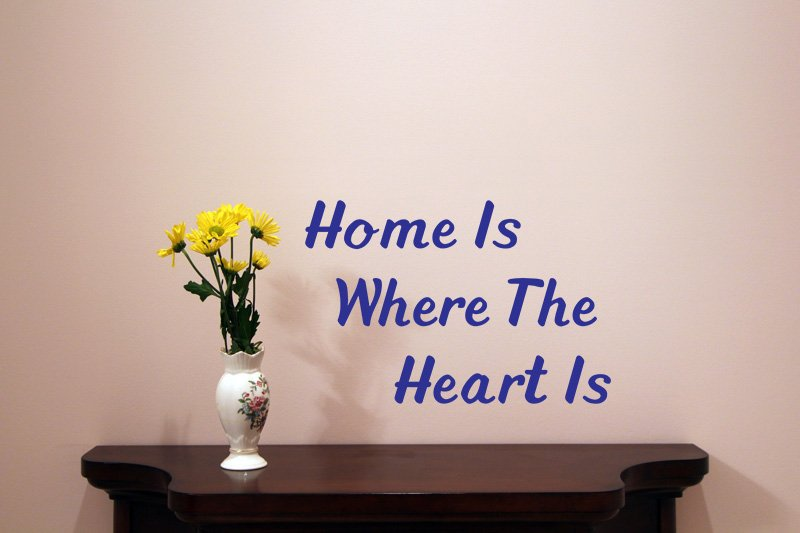 Home Is Where The Heart Is Vinyl Wall Quote