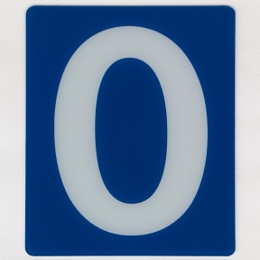 12 inch Exxon Gas Station Price Numbers, on 13 inch Blue Panel,  080 Thick  Rigid