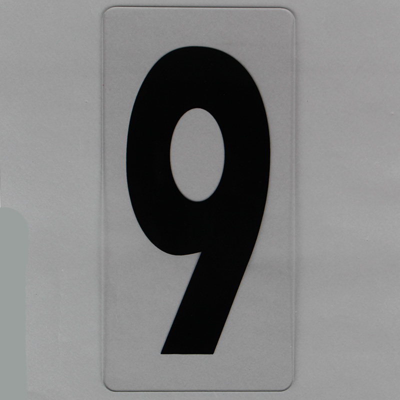 8 Inch Shell Gas Station Price Numbers On Clear Panel
