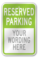 Custom Employee Parking Sign