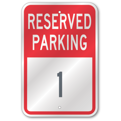Custom Parking Lot Numbers Sign Outdoor Reflective