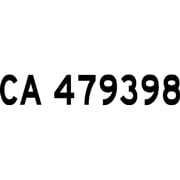 CA Number Decals, Custom Prespaced on Decal Sheet