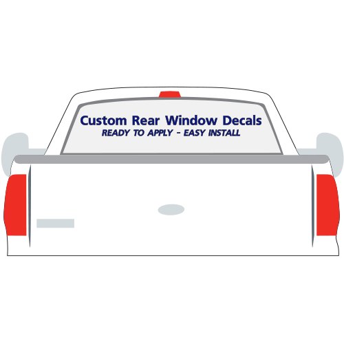 Custom Rear Window Car Decal Stickers VL - Car window clings custom