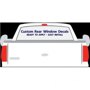 custom rear window car decal stickers vl0403