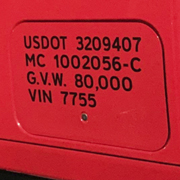 Usdot Number Decal Stickers Design Online