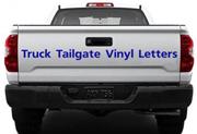 truck tailgate vinyl lettering