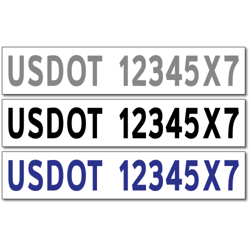Dot Truck Lettering Amp Number Stickers Decals Vl0701