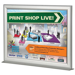 Countertop Sign Holder 85 X 11 Slide In Silver Aluminum Clear