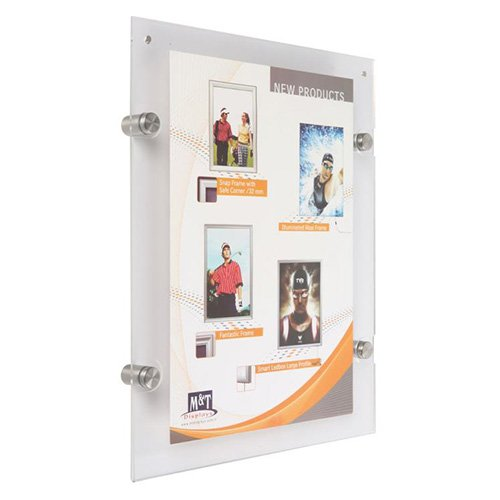 Wall Mount Acrylic Frame Metal Standoff Support 85 X 11 Sf55s0d0081