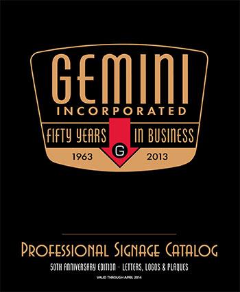 gemini sign catalog of letters